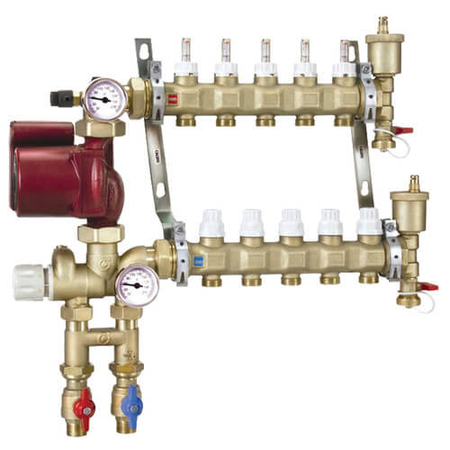 Fixed Point Manifold Mixing Station w/ UPS15-58FC Pump (12 Outlets) Product Image