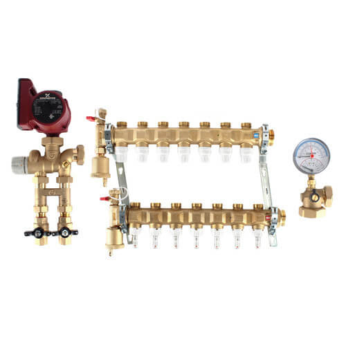 Fixed Point Manifold Mixing Station w/ UPS15-58FC Pump (13 Outlets) Product Image
