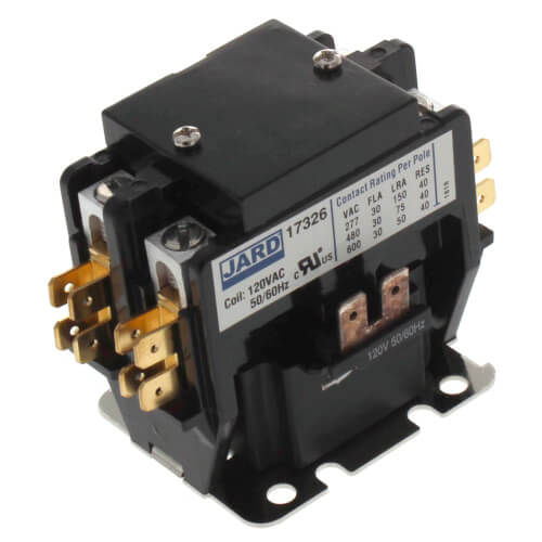 2 pole contactor wiring diagram hvac 17326 jard 17326 jard 2 pole definite purpose contactor w  17326 jard 17326 jard 2 pole