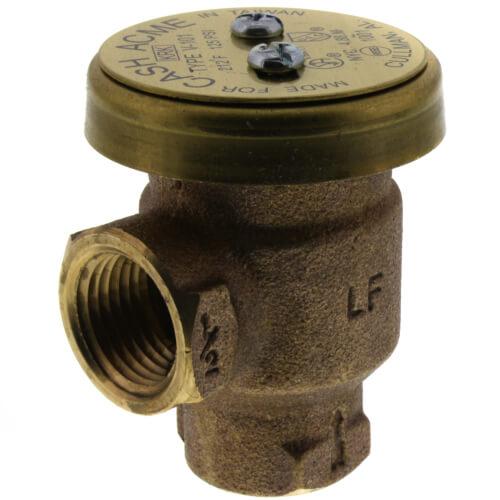 "1/2"" NPT BFP V-101 Anti-Siphon Vacuum Breaker, Brass (Lead Free) Product Image"