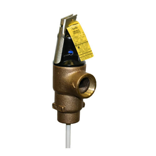 "1"" FNPT Commercial ASME T&P Relief Valve (5"" Element, 125 psi) Product Image"