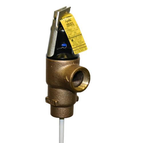"""1"""" TPC 2,155,000 BTU Capacity T & P Relief Valve w/ 3"""" Element (150 PSI) Product Image"""