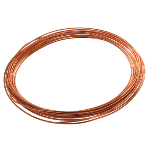 "1/8"" OD x 50' Copper Refrigeration Tubing Coil Product Image"