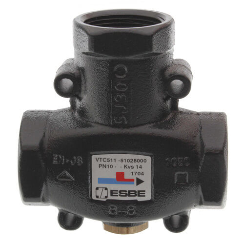 """ESBE Series 1-1/4"""" 3-Way Thermic Valve (Body Only) Product Image"""