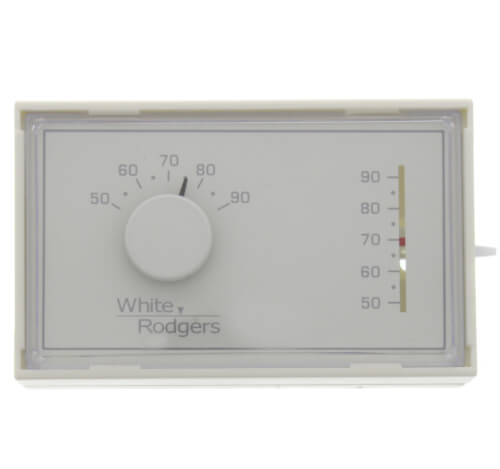 Non-Programmable, 1H/1C, Mechanical Thermostat w/ 3-Wire Zone Mounting Plate Product Image