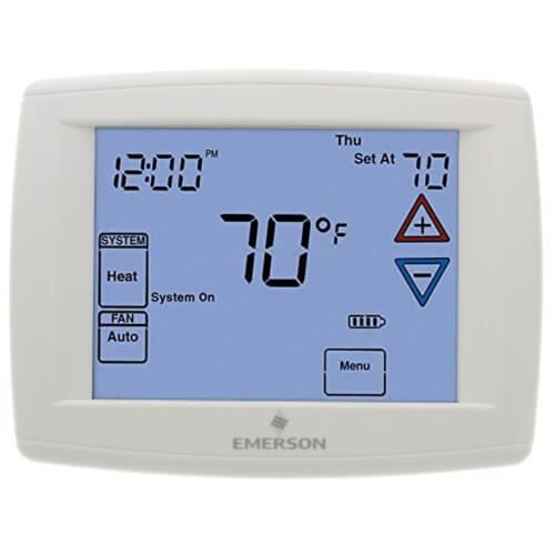 Programmable, 3H/2C, Big Blue Digital Touchscreen Thermostat Product Image