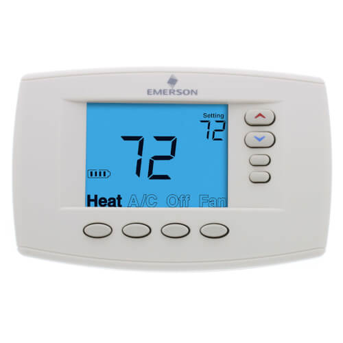 Programmable, 4H/2C, Easy Reader Blue Digital Thermostat Product Image