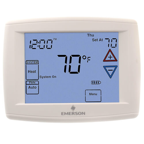 90 Series Programmable, 1H/1C, Blue Digital Touchscreen Thermostat Product Image