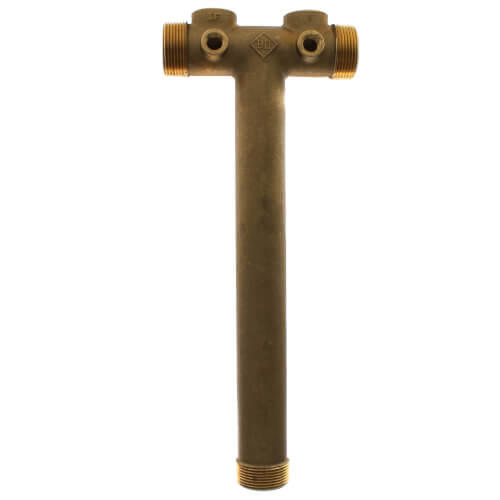 "1-1/4"" X 13"" Center to End, No Lead Brass Solid Tank Tee Product Image"