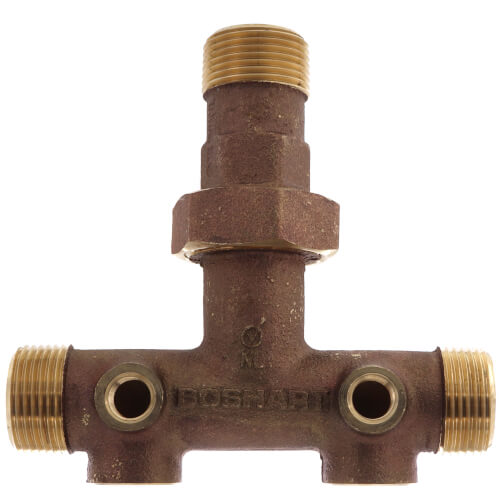 """1"""" X 4-1/2"""" Center to End, No Lead Brass O-Ring Union Tank Tee Product Image"""