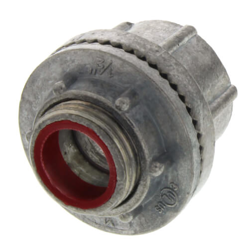 "1/2"" Zinc Die Cast Rigid Watertight Hub w/ Insulated Throat Product Image"
