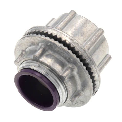 "3/4"" Zinc Die Cast Rigid Watertight Hub w/ Insulated Throat Product Image"