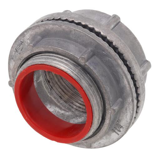 "1-1/4"" Zinc Die Cast Rigid Watertight Hub w/ Insulated Throat Product Image"