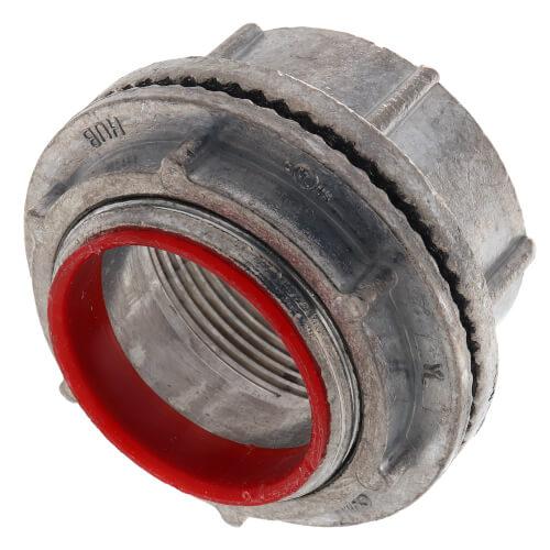 "1-1/2"" Zinc Die Cast Rigid Watertight Hub w/ Insulated Throat Product Image"