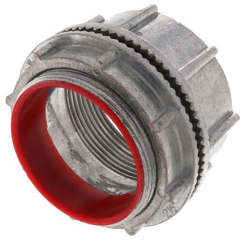 "2-1/2"" Zinc Die Cast Rigid Watertight Hub w/ Insulated Throat Product Image"