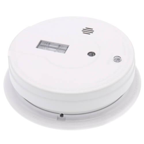 i12080 Hard-Wired Interconnect Ionization Smoke Alarm (120v) w/ Safety Light and 9v Battery Backup Product Image