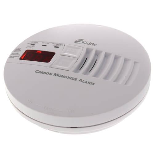 Hardwired Carbon Monoxide Alarm w/ Digital Display (120) w/ 9v Battery Backup Product Image