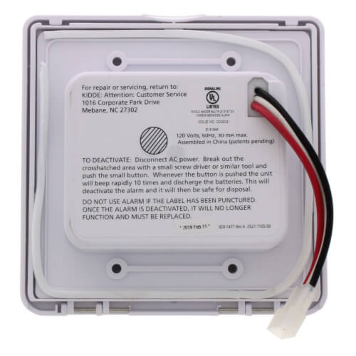 Hardwired Carbon Monoxide Alarm w/ Digital Display and Lithium Battery Backup Product Image