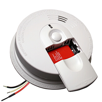 Wire-in Ionization Smoke Alarm, Slide Load (120v) w/ 9v Alkaline Battery Backup Product Image