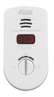 Plug-In Carbon Monoxide Alarm (120v) w/ Digital Display and AA Battery Backup Product Image
