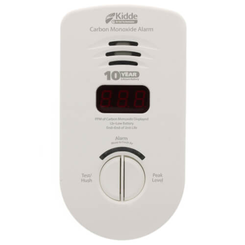 KN-COP-DP-10YL Plug-In Living Area Carbon Monoxide Alarm (120v) w/ Digital Display and Lithium Battery Backup Product Image
