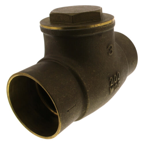 """3"""" Solder Ends Swing Check Valve, Lead Free Product Image"""