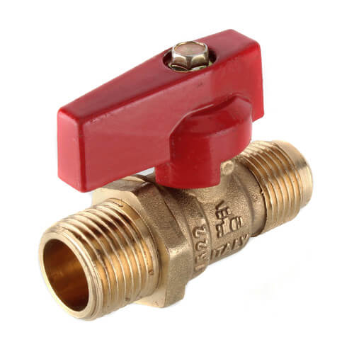 "1/2"" Flare x 1/2"" MIP Gas Ball Valve Product Image"