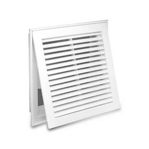"30"" x 24"" (Wall Opening Size) White Steel Fixed-Bar Filter Grille (96AFB Series) Product Image"