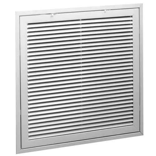 """20"""" x 20"""" (Wall Opening Size) White Steel Fixed-Bar Filter Grille (96AFBT Series) Product Image"""