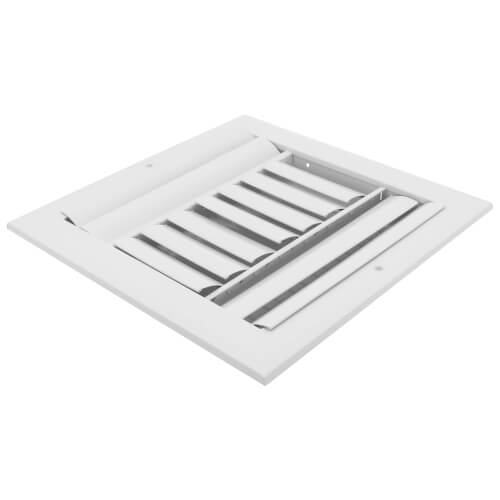 """10"""" x 10"""" (Wall Opening Size) Three-Way White Sidewall/Ceiling Register (A613MS Series) Product Image"""