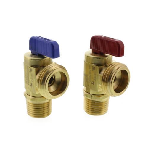 "1/2"" Fem. Solder or 1/2"" MIP x Male Hose Boiler Drain, Pack of 2 (Rough Brass) Product Image"
