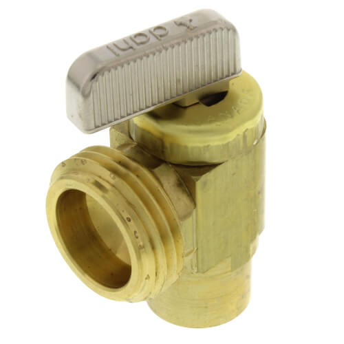 "1/2"" Female Sweat  x Male Hose, Angle Hose & Boiler Drain Valve, LF (Brass) Product Image"