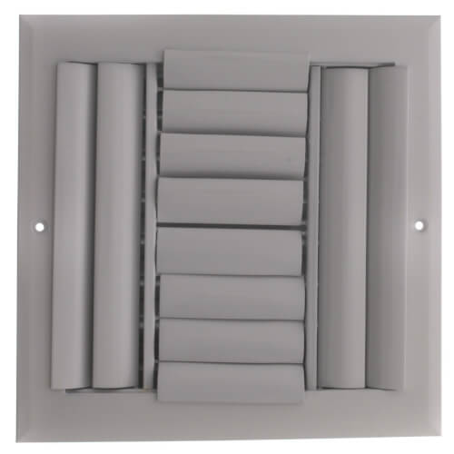 "8"" x 8"" (Wall Opening Size) White Sidewall/Ceiling Register (A614MS Series) Product Image"
