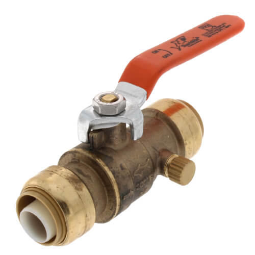 "3/4"" SharkBite Ball Valve with Drain (Lead Free) Product Image"