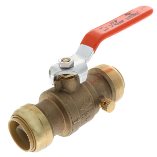 "1"" SharkBite Ball Valve with Drain (Lead Free) Product Image"