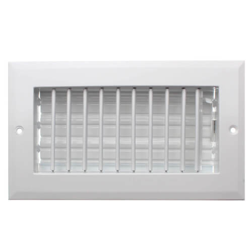 """8"""" x 4"""" (Wall Opening Size) White Sidewall/Ceiling Register (A618MS Series) Product Image"""