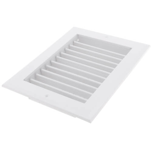 """8"""" x 6"""" (Wall Opening Size) White Sidewall/Ceiling Register (A618MS Series) Product Image"""