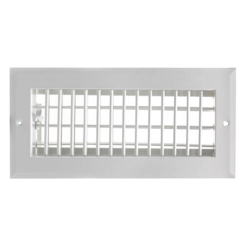"""10"""" x 4"""" (Wall Opening Size) White Sidewall/Ceiling Register (A618MS Series) Product Image"""