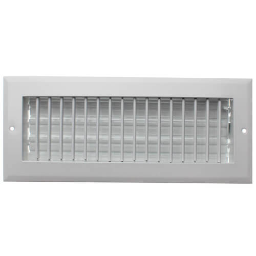 """12"""" x 4"""" (Wall Opening Size) White Sidewall/Ceiling Register (A618MS Series) Product Image"""