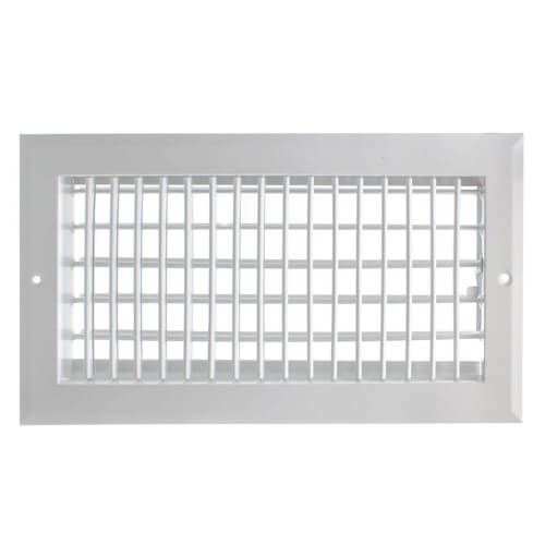 """12"""" x 6"""" (Wall Opening Size) White Sidewall/Ceiling Register (A618MS Series) Product Image"""