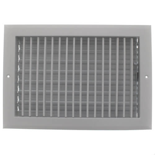 """12"""" x 8"""" (Wall Opening Size) White Sidewall/Ceiling Register (A618MS Series) Product Image"""