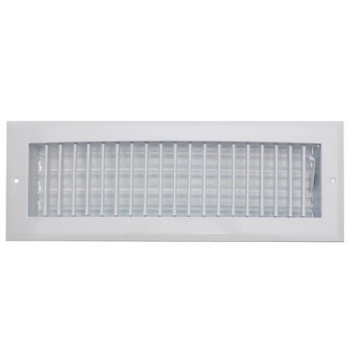 """A618MS 14"""" x 4"""" (Wall Opening Size) White Sidewall/Ceiling Register (A618MS Series) Product Image"""