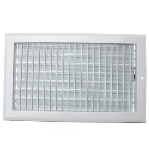 """14"""" x 8"""" (Wall Opening Size) White Sidewall/Ceiling Register (A618MS Series) Product Image"""