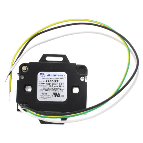 6kV Electronic Industrial Gas Ignitor (Mounting Tabs w/ Primary Plug Set with Pigtails), 120V Product Image