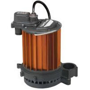 1/3 HP Manual Aluminum Submersible Sump Pump - 115v - 25 ft Cord Product Image