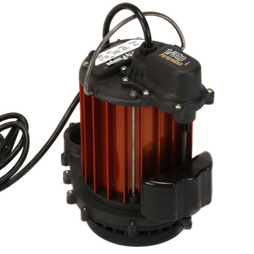 1/3 HP Auto Aluminum Submersible Pump w/ Magnetic Vertical Float Switch - 115v - 10 ft Cord Product Image