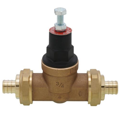 """3/4"""" EB45 Double Union PEX Crimp Pressure Regulating Valve, 45 PSI (Lead Free) Product Image"""