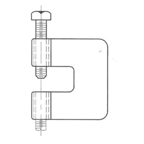 """1/2"""" Electro-Galvanized C-Clamp without Bottom Locking Nut Product Image"""