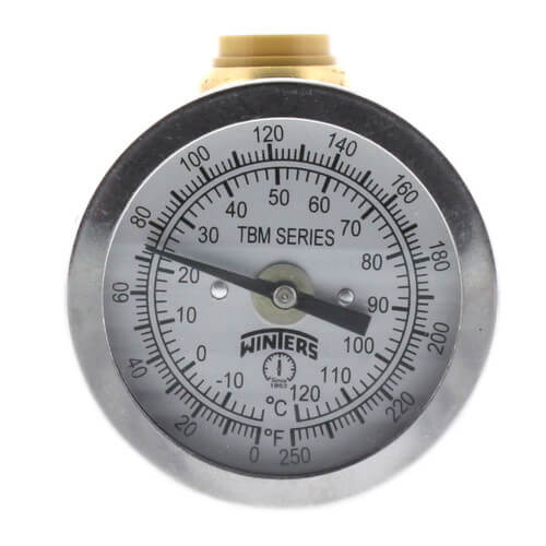 """SharkBite Temperature Gauge with 1/2"""" Tee (Lead Free) Product Image"""