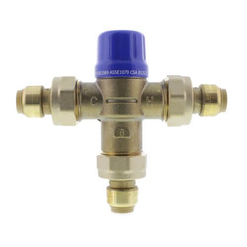 """HG-110D, 1/2"""" SharkBite Heatguard Thermostatic Mixing Valve w/ Integral Connectors (Lead Free) Product Image"""